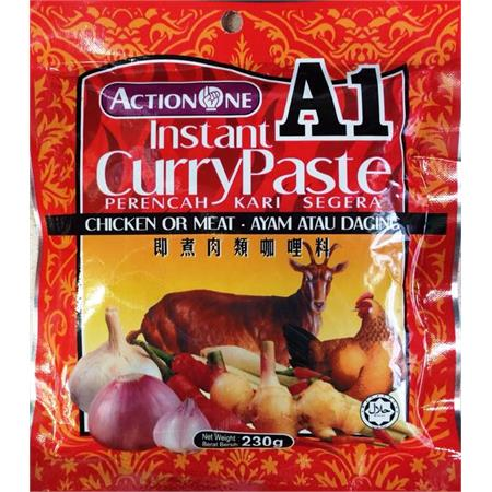 Action One Instant Curry Paste for Chicken or Meat 230g