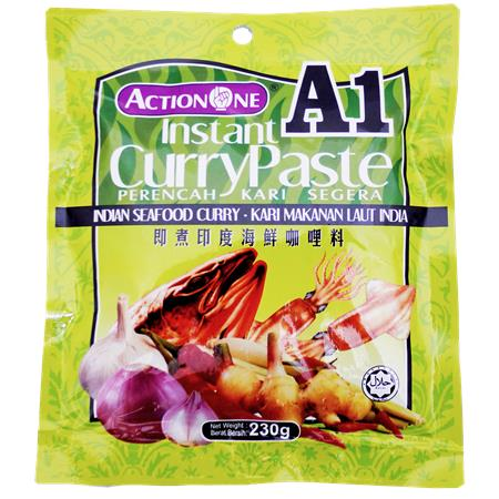 Action One Instant Indian Curry Paste for Seafood 230g