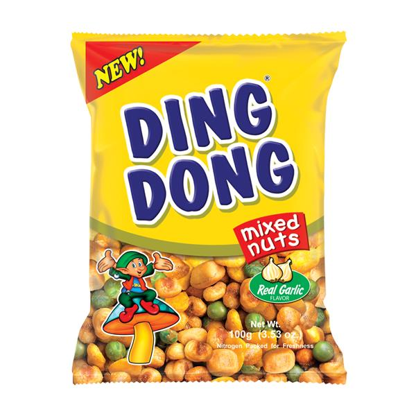 Ding Dong Mixed Nuts with Real Garlic 100g from Buy Asian ...