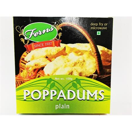 Ferns' Poppadums Plain 100g