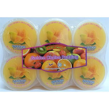 Golden Choice Pudding Mango with Nata de Coco 110g x 6