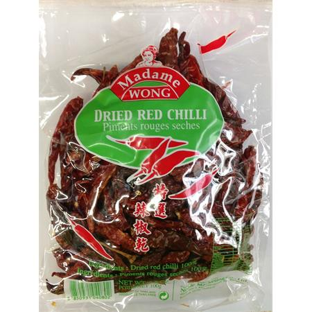 Madame Wong Dried Red Chilli Small 100g