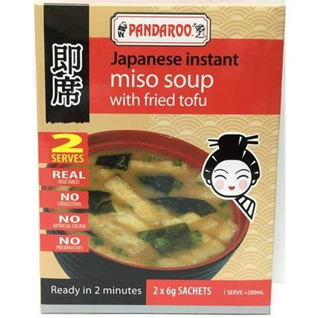 Pandaroo Instant Miso Soup with Fried Tofu 6g x 2