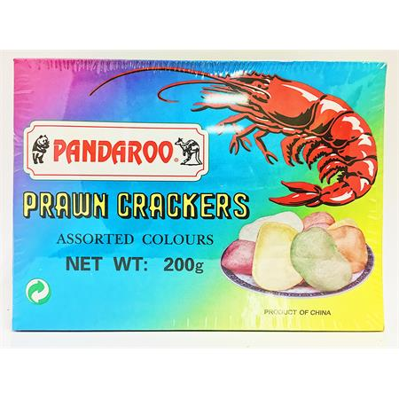 Pandaroo Prawn Crackers Assorted Colours 200g