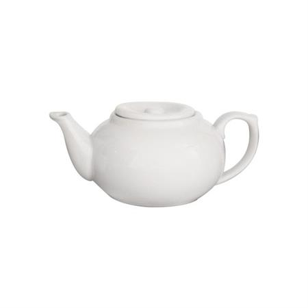 Tea Pot Persimon White #3 Z091