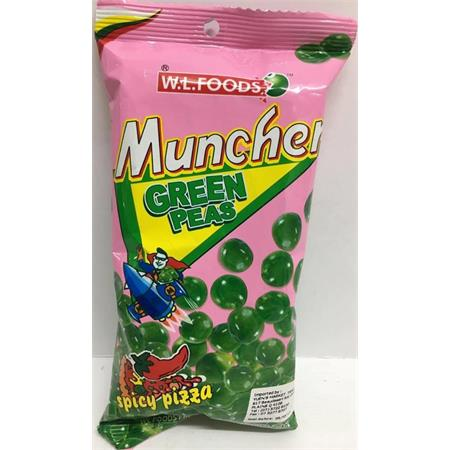 W.L. Foods Muncher Green Peas Spicy Pizza 70g